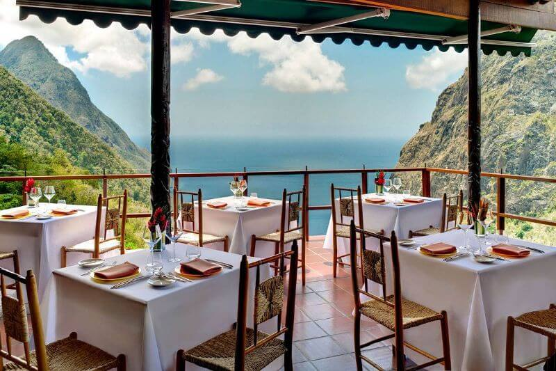 most beautiful restaurants in the world, Dasheen, St. Lucia