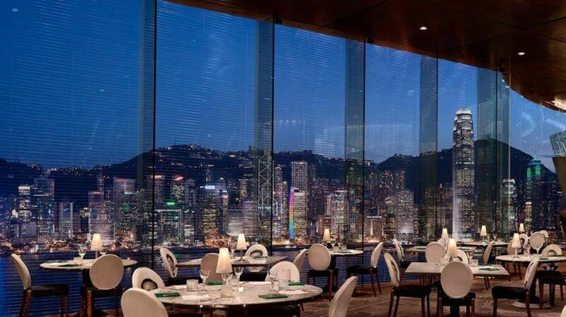 best restaurant views, Felix, Hong Kong
