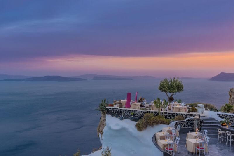 best restaurants in Santorini with a view, Lycebettus