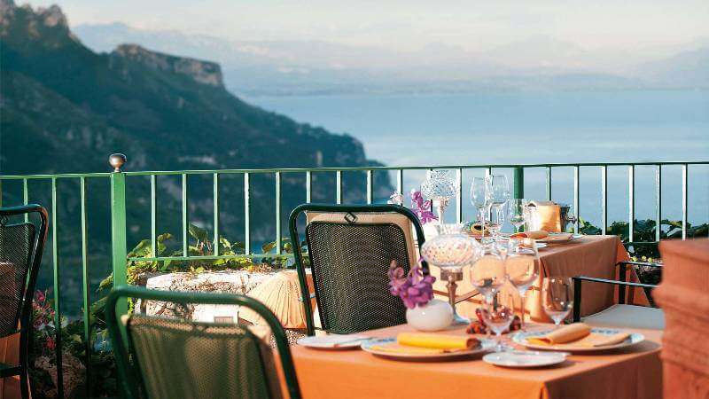 most beautiful restaurants in the world, Rosellinis, Ravello, Italy