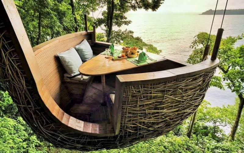 best restaurant views, Thailand, The dining pod