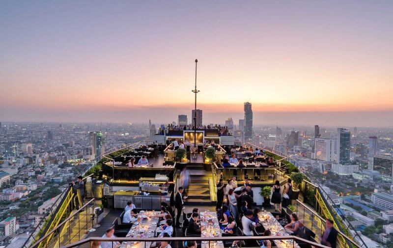 beat restaurant views, Vertigo, Bangkok